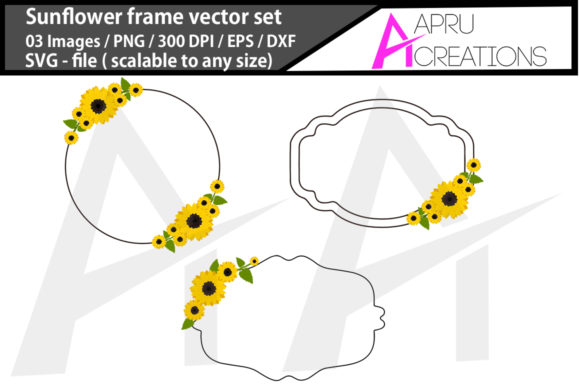 Print on Demand: Sunflower Frames Graphic Crafts By aparnastjp