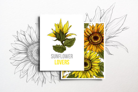 Sunflower Patterns Collection Graphic Patterns By ilonitta.r - Image 5