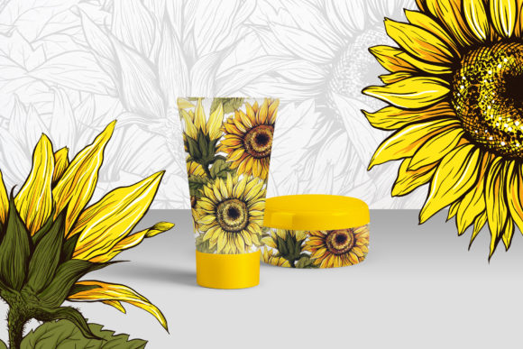 Sunflower Patterns Collection Graphic Patterns By ilonitta.r - Image 7