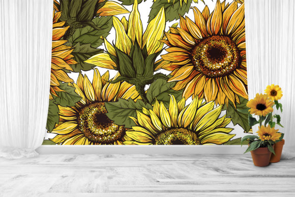 Sunflower Patterns Collection Graphic Patterns By ilonitta.r - Image 8