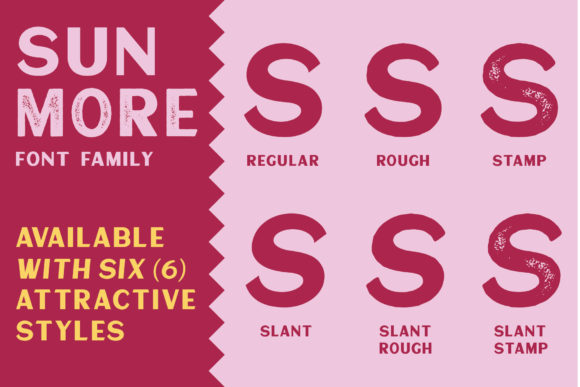 Print on Demand: Sunmore Display Font By Viaction Type.Co - Image 2