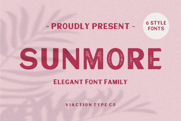 Print on Demand: Sunmore Display Font By Viaction Type.Co