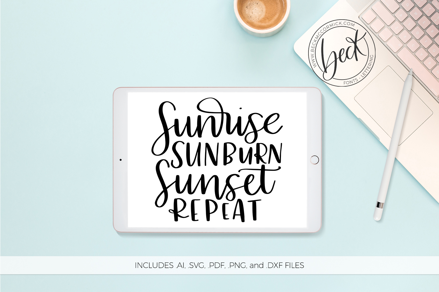 Download Free Sunrise Sunburn Grafico Por Beckmccormick Creative Fabrica for Cricut Explore, Silhouette and other cutting machines.