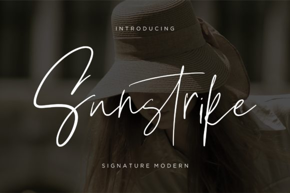 Print on Demand: Sunstrike Script & Handwritten Font By CreatypeStudio