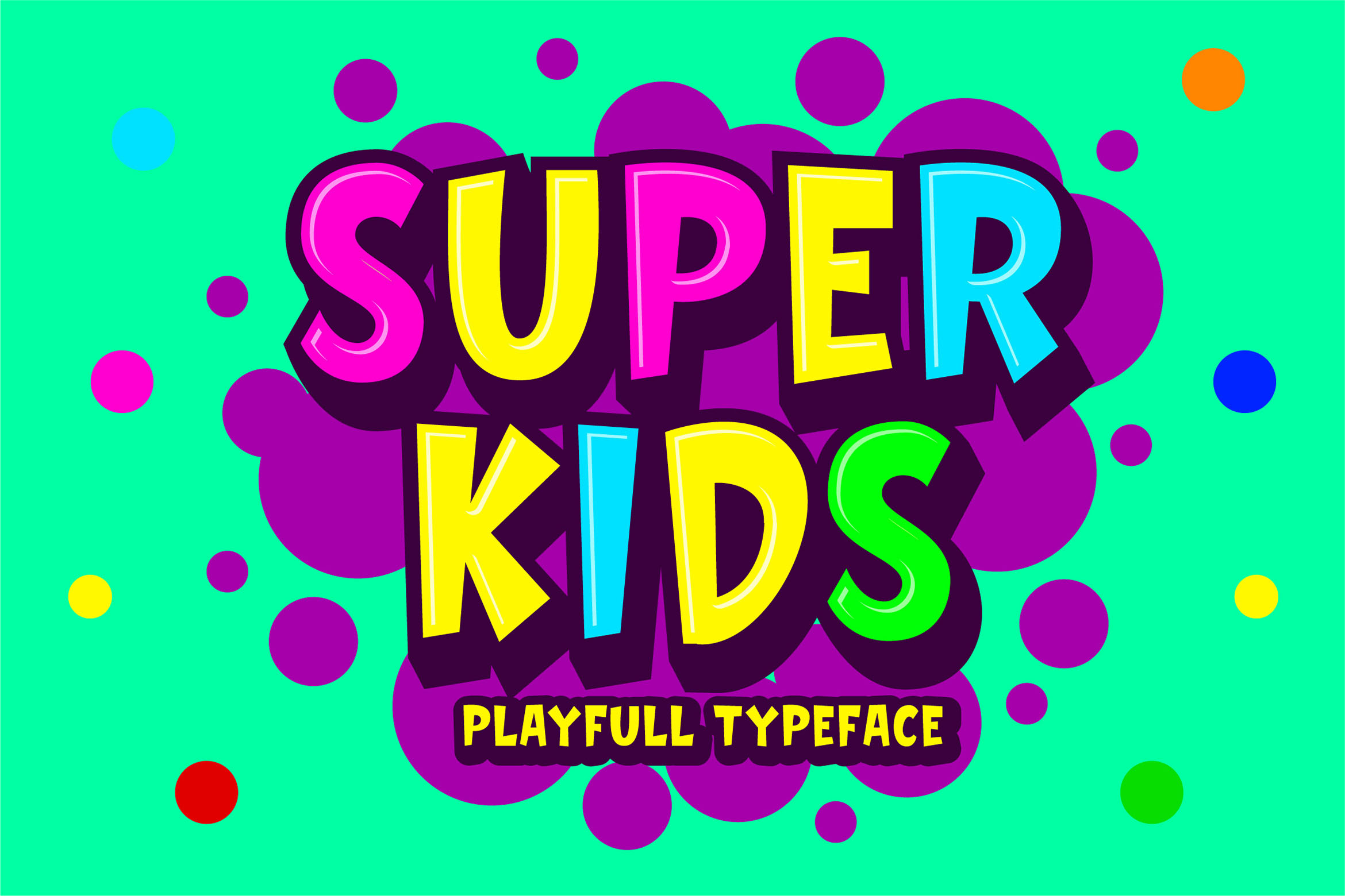 Download Free Super Kids Font By Blankids Studio Creative Fabrica for Cricut Explore, Silhouette and other cutting machines.