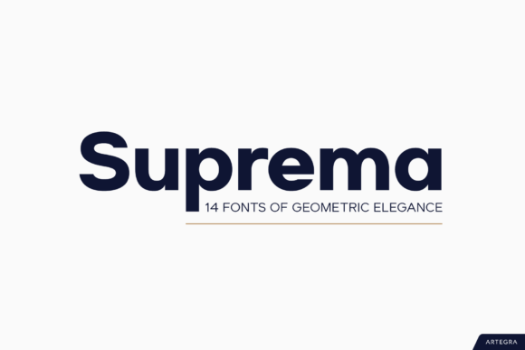 Print on Demand: Suprema Sans Serif Fuente Por Artegra
