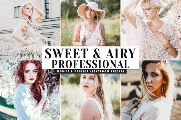 Print on Demand: Sweet & Airy Lightroom Presets Pack Graphic Actions & Presets By Creative Tacos