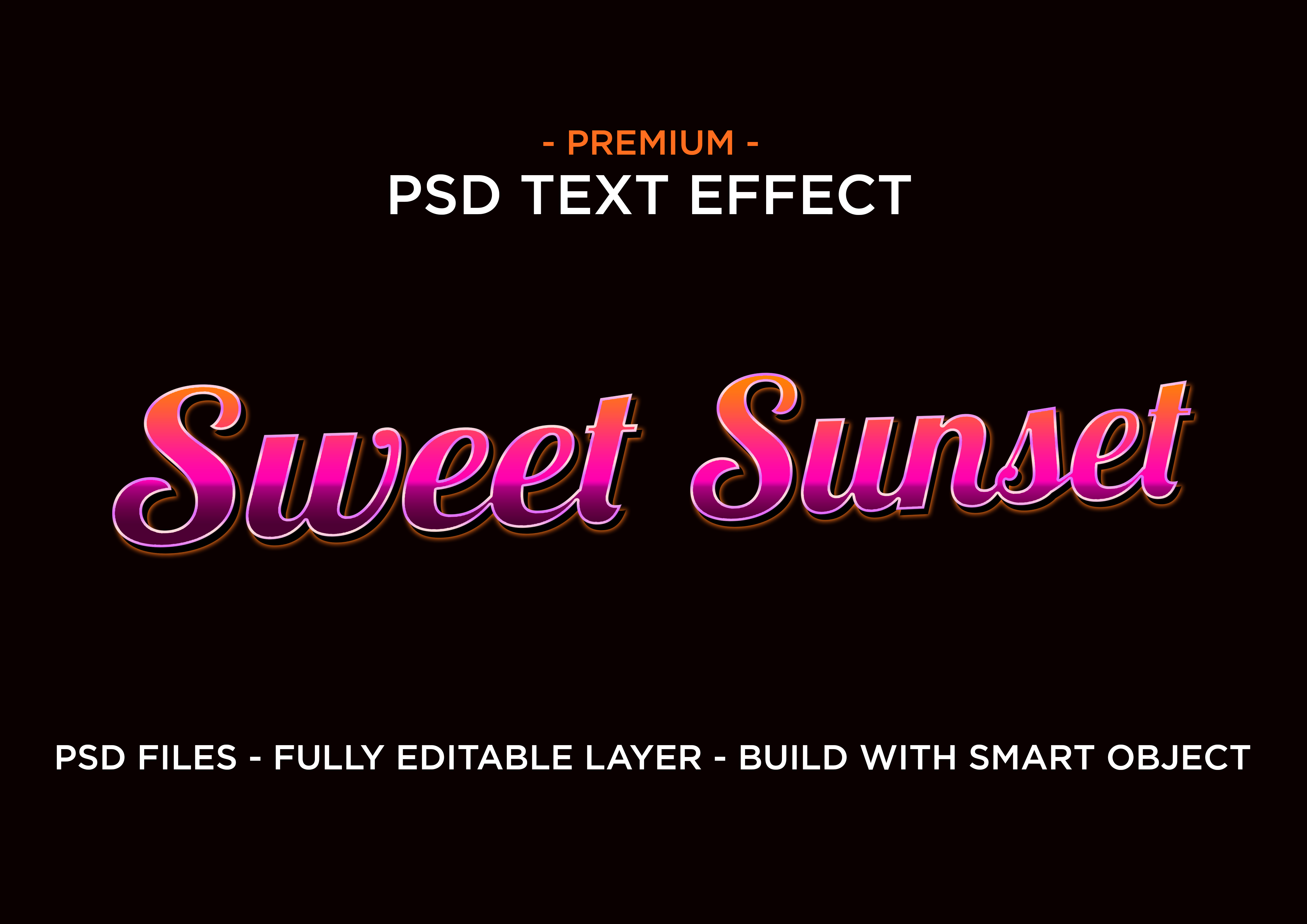 Download Free Sweet Sunset Psd Text Layer Style Effect Graphic By Eddyinside for Cricut Explore, Silhouette and other cutting machines.