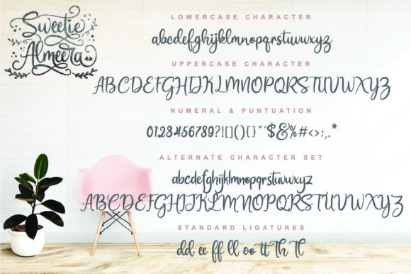 Print on Demand: Sweetie Almeera Script & Handwritten Font By Almeera Studio - Image 3