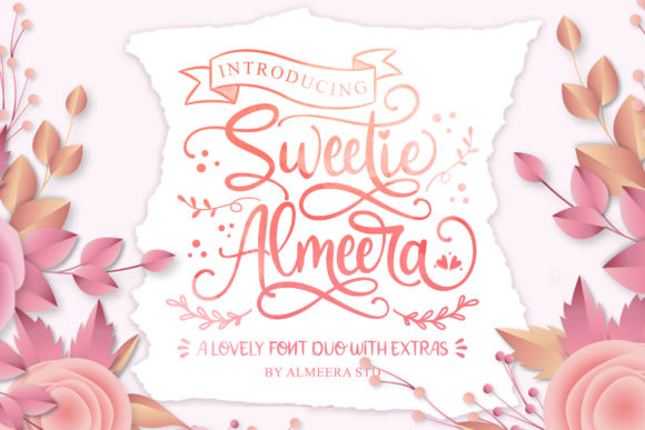 Print on Demand: Sweetie Almeera Script & Handwritten Font By Almeera Studio - Image 1