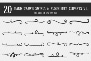 Swirls & Flourishes Cliparts Ver. 2 Graphic By Creative Tacos