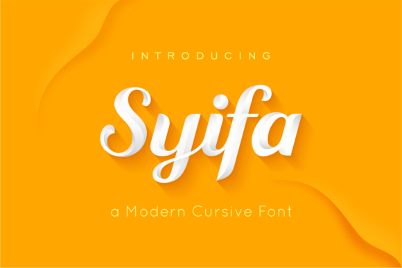 Print on Demand: Syifa Script Script & Handwritten Font By ARToni