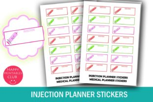 Syringe/Shot Reminder Planner Stickers Graphic By Happy Printables Club