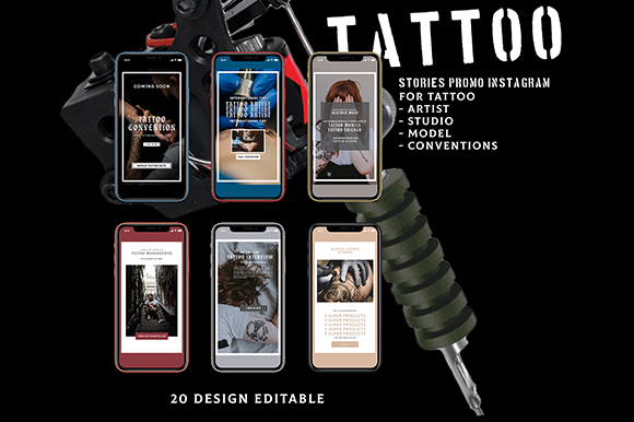TATTOO - Animated Instagram Stories Graphic Graphic Templates By Anton Wibowo