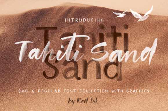 Tahiti Sand Script & Handwritten Font By Red Ink