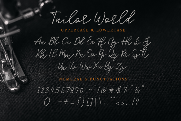 Print on Demand: Tailor World Script & Handwritten Font By Typia Nesia - Image 7