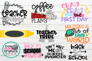 Download Free Teacher Bundle School Teachers Graphic By Onestonegraphics for Cricut Explore, Silhouette and other cutting machines.