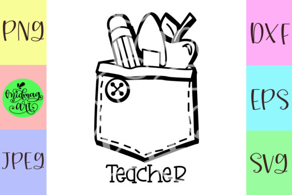 Teacher Graphic Objects By MidmagArt - Image 2