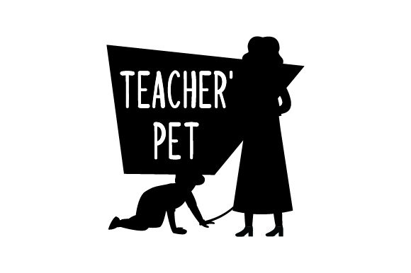 Teacher Holding Leash with Child on All Fours Smiling - Back to School School & Teachers Craft Cut File By Creative Fabrica Crafts - Image 2