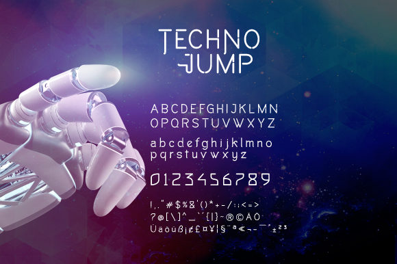 Print on Demand: Techno Jump Display Font By VNM Creative Studio - Image 4