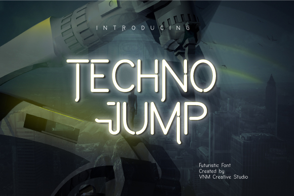 Download Free Techno Jump Font By Vnm Creative Studio Creative Fabrica for Cricut Explore, Silhouette and other cutting machines.