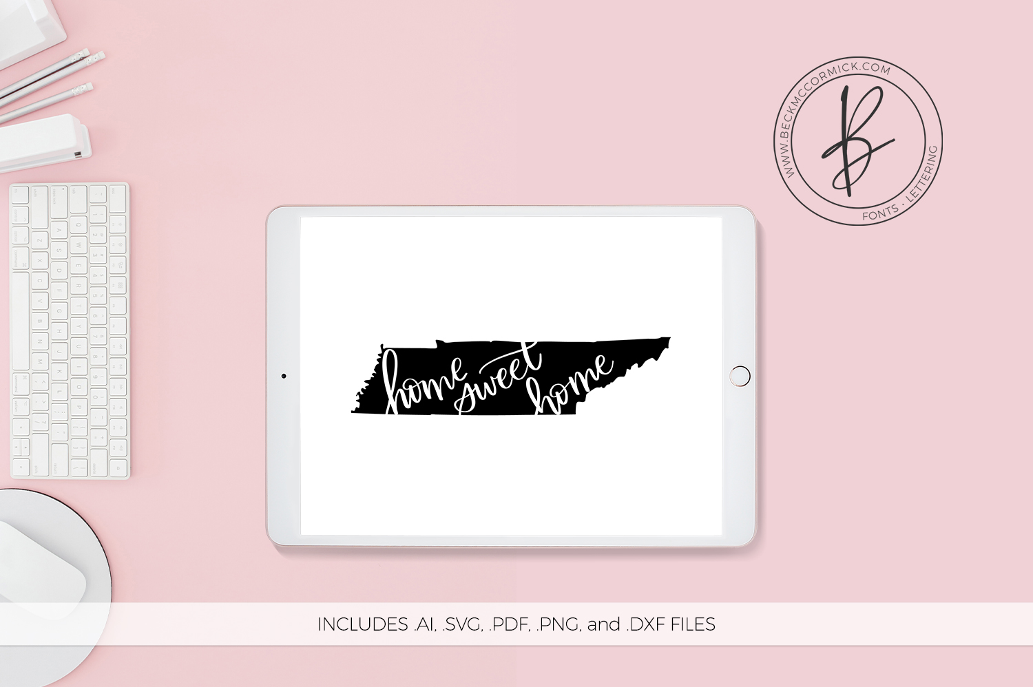 Download Free Tennessee Home Sweet Home Graphic By Beckmccormick Creative for Cricut Explore, Silhouette and other cutting machines.