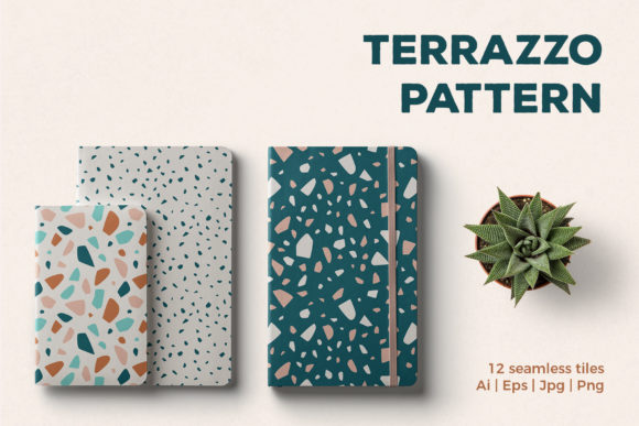 Terrazzo Seamless Patterns Graphic Patterns By abstractocreate