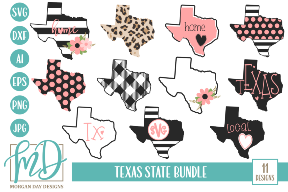 Print on Demand: Texas Bundle Graphic Crafts By Morgan Day Designs