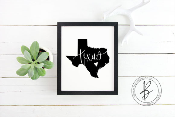 Print on Demand: Texas Heart Graphic Crafts By BeckMcCormick - Image 2