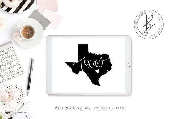 Print on Demand: Texas Heart Graphic Crafts By BeckMcCormick - Image 1