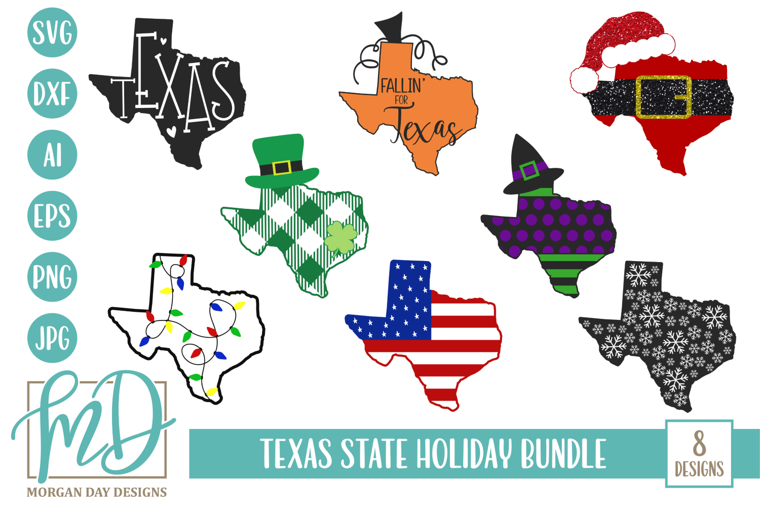 Download Free Texas Holiday Bundle Graphic By Morgan Day Designs Creative for Cricut Explore, Silhouette and other cutting machines.