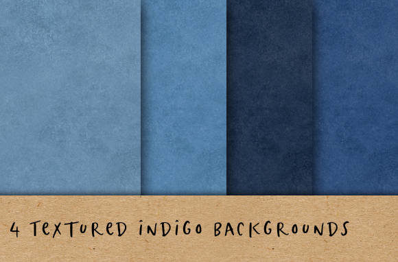 Textured Indigo Blue Backgrounds Graphic Backgrounds By BecWaterhouse