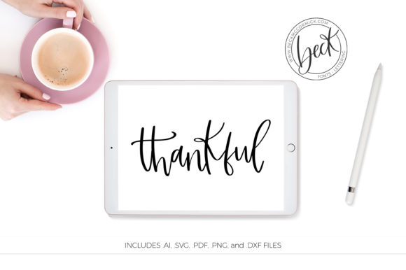 Thankful Graphic By Beckmccormick Creative Fabrica