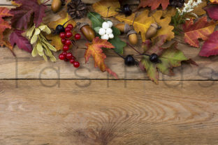 Thanksgiving Background with Fall Leaves Graphic By TasiPas
