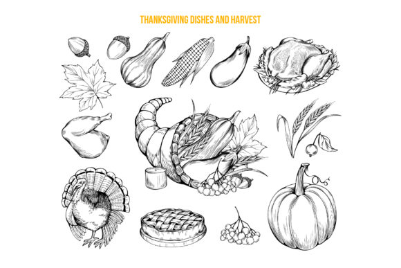 Thanksgiving Graphics Collection Graphic Objects By ilonitta.r - Image 5