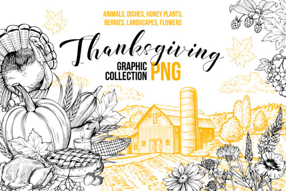 Thanksgiving Graphics Collection Graphic Objects By ilonitta.r