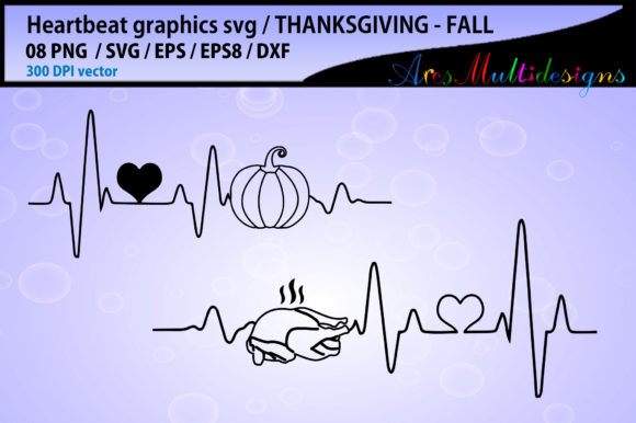 Print on Demand: Thanksgiving Heart Beat Graphics Graphic Crafts By Arcs Multidesigns - Image 2