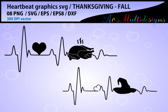 Print on Demand: Thanksgiving Heart Beat Graphics Graphic Crafts By Arcs Multidesigns - Image 3