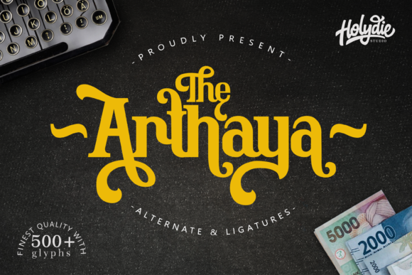 The Arthaya Display Font By Holydie Studio