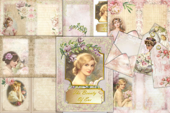 Print on Demand: The Beauty of Eve Scrapbooking Kit Graphic Crafts By The Paper Princess - Image 1