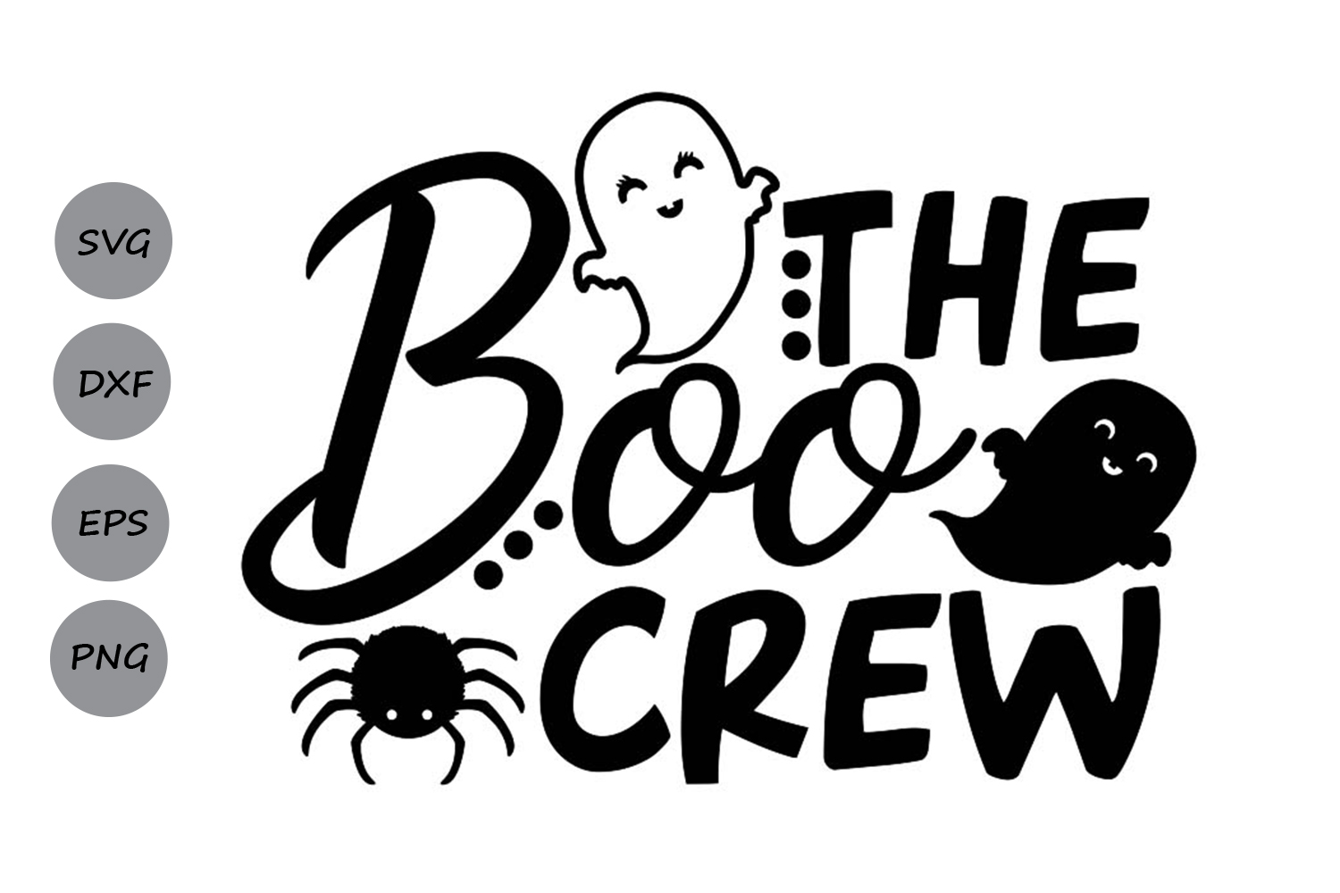 Download Free The Boo Crew Graphic By Cosmosfineart Creative Fabrica for Cricut Explore, Silhouette and other cutting machines.