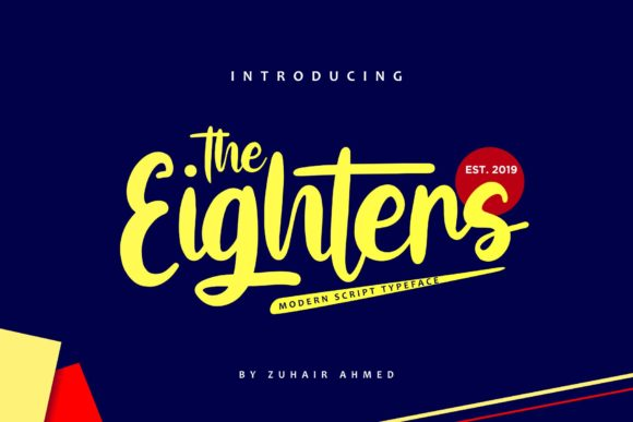 Print on Demand: The Eighters Script & Handwritten Font By ZHR Creative