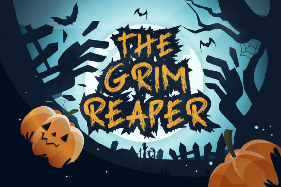 The Grim Reaper Display Font By Naharstd