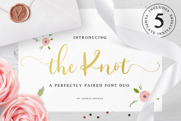 Print on Demand: The Knot Script & Handwritten Font By georgebourle