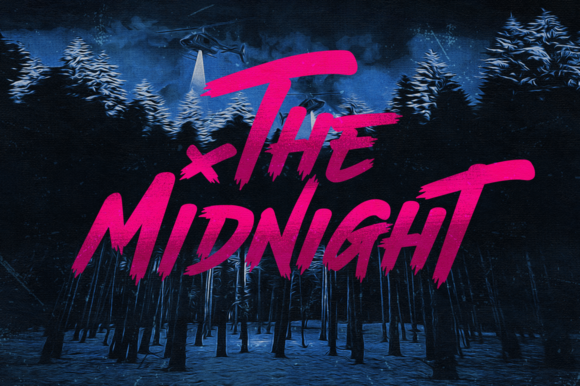 Print on Demand: The Midnight Display Font By thebrandedquotes