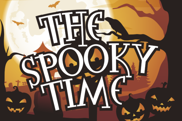 Print on Demand: The Spooky Time Display Font By Fallengraphic