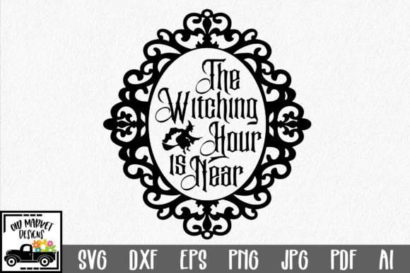 The Witching Hour is Near Graphic Crafts By oldmarketdesigns