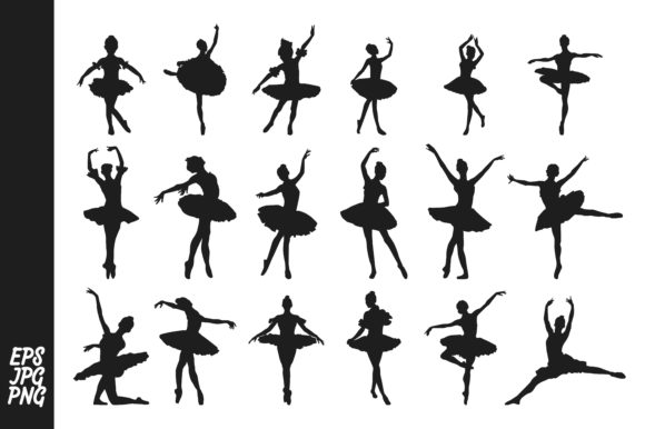 Print on Demand: The Silhouette of a Ballet Dancer Bundle Graphic Crafts By Arief Sapta Adjie