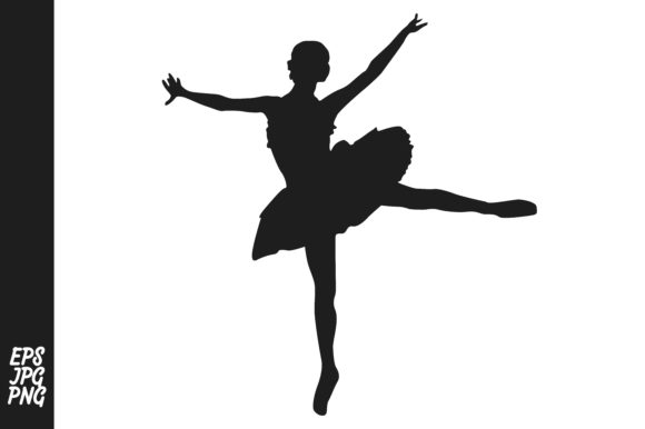 Print on Demand: The Silhouette of a Ballet Dancer Graphic Crafts By Arief Sapta Adjie