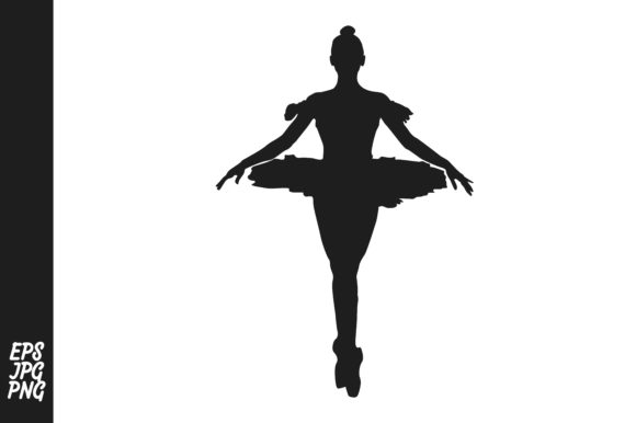Download Free The Silhouette Of A Ballet Dancer Graphic By Arief Sapta Adjie for Cricut Explore, Silhouette and other cutting machines.